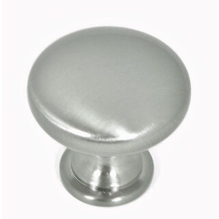 Stone Mill Hardware - Satin Pewter Round Cabinet Knobs (Pack of 5) - pack of 5