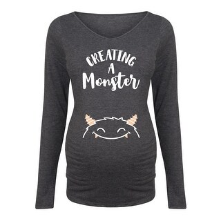 Creating A Monster - Maternity Long Sleeve Tee