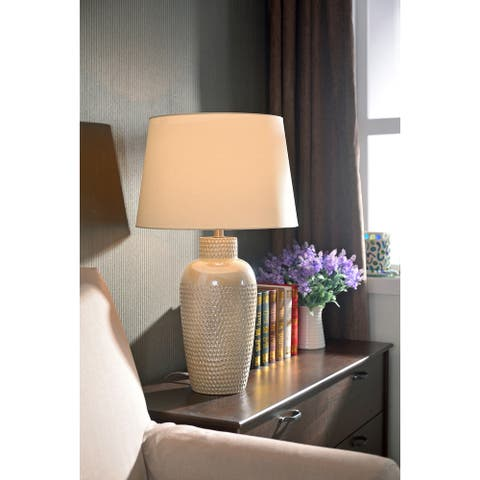 Bindy 28-inch Iridescent Ceramic Table Lamp