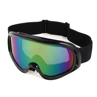 Unique Bargains Black Colored Lens Plastic Frame Mountain Anti-wind Ski Goggles for Unisex