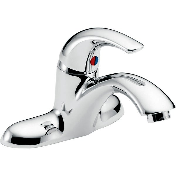 Delta 22C151 Single Handle 0.5GPM Bathroom Faucet with No Pop-Up Hole Less Pop-Up Assembly from the Commercial Series - Chrome