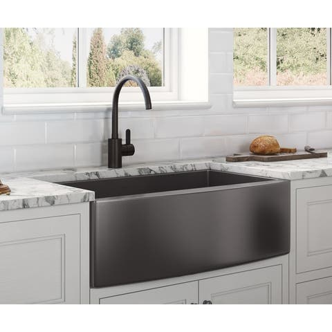Stainless Steel Farmhouse And Apron Kitchen Sinks Shop Online At Overstock