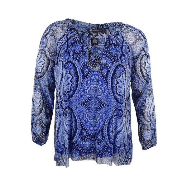 92b4603aafd Shop INC International Concepts Women s Plus Size Cold-Shoulder Blouse -  Pagoda Paisley - On Sale - Free Shipping On Orders Over  45 - Overstock -  17019058