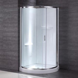 "Miseno MSD3878KIT 78"" High x 38"" Wide Framed Shower Door Enclosure for Corner Installations - Acrylic Shower Base and Shower"