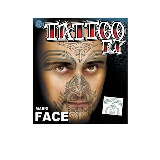 Maori Tribal Face Temporary Tattoo