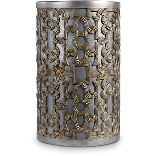 "Hooker Furniture 638-50331-CHP  15"" Wide Hardwood Accent Table from the Melange - Gia Collection - Silver Gold"