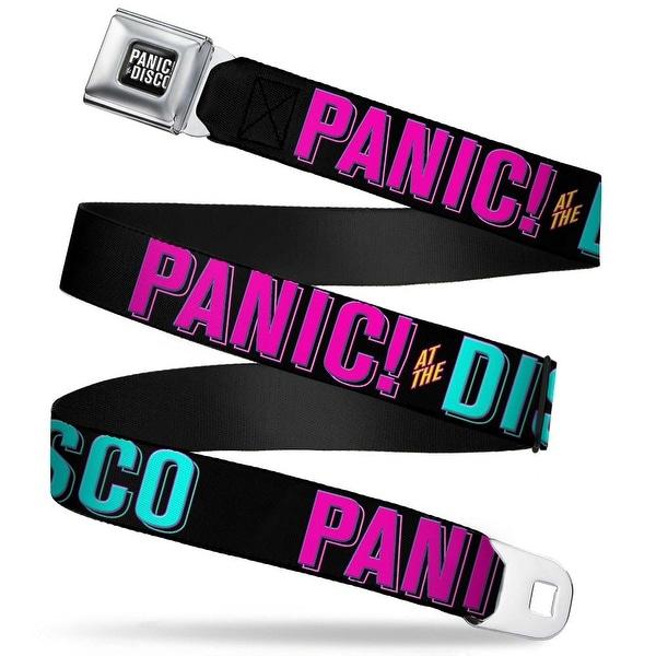 Panic! At The Disco Block Full Color Black White Panic! At The Disco Block Seatbelt Belt