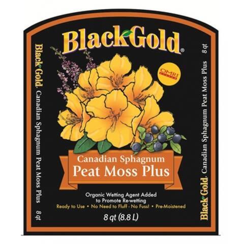 Black Gold Peat Moss Plus, 8 qt