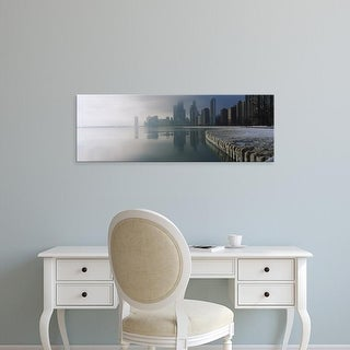 Easy Art Prints Panoramic Images's 'Lake Michigan, Navy Pier, Michigan, Chicago, Cook, Illinois' Canvas Art