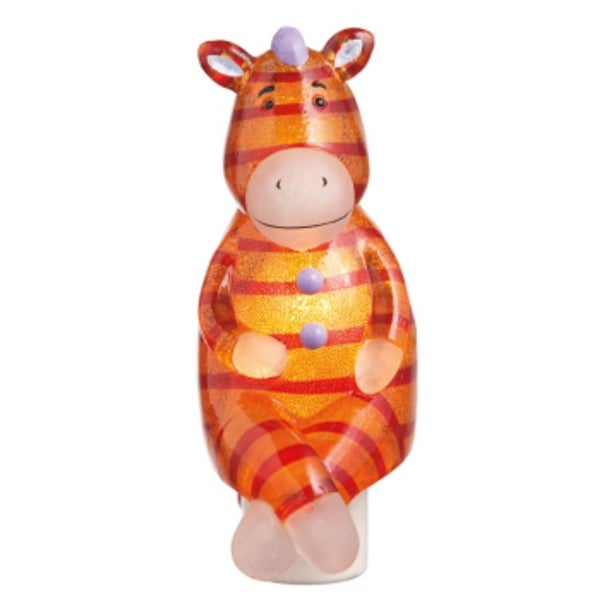 "5.5"" Genuine Monkeez and Friends Orange Zippy Zebra Children's Night Light"