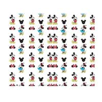 76 x 92 in. Mickey & Minnie Step & Repeat - Double Wide Cardboard