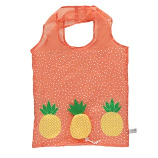 Sass & Belle Foldable Compact Reusable Shopping Bag - One size (Option: Pineapple)