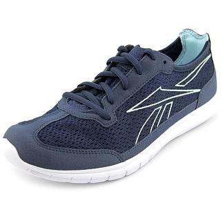 Reebok Sport Ahead Action Rs Women Round Toe Synthetic Blue Walking Shoe