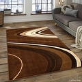 "AllStar Rugs Brown Modern Contemporary Area Rug (7' 10"" x 10' 2"") - Thumbnail 0"