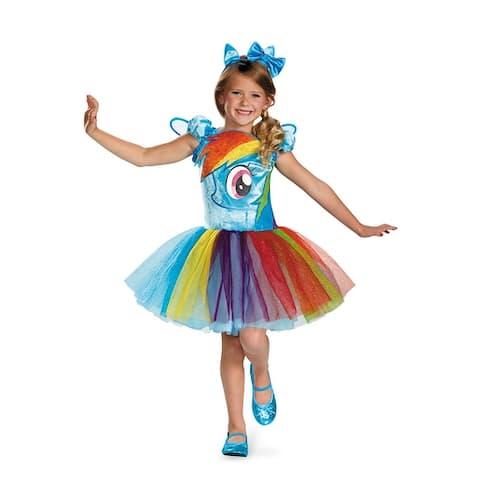 Disguise Rainbow Dash Tutu Prestige Child Costume - Blue