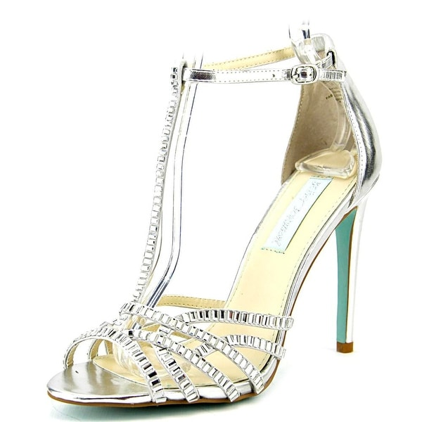 Betsey Johnson Ruby Women Open Toe Synthetic Silver Sandals