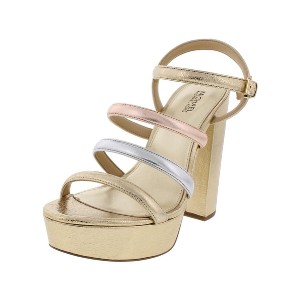 MICHAEL Michael Kors Womens Nantucket Platforms Metallic Strappy