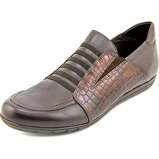 Vaneli Sport Armon Women Round Toe Leather Brown Loafer