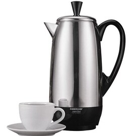 Farberware FCP412 Stainless Steel 12 Cup Percolator, 1000 Watts
