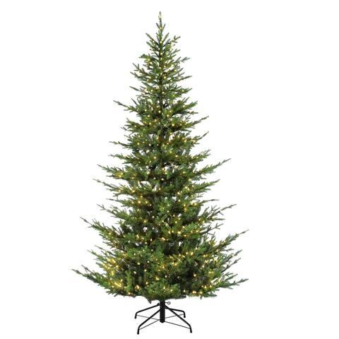 Puleo International 7.5 PreLit Natural Artificial Tree 700 Lights