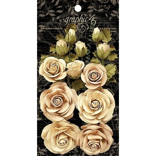 Graphic 45 Staples Rose Bouquet Collection 15/Pkg-Classic Ivory & Natural Linen