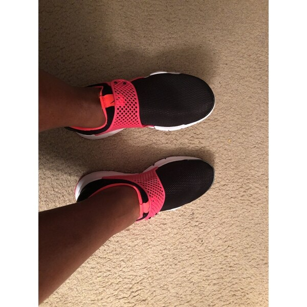 info for fefe2 9b27e Shop Nike Grade-School Sock Dart Black/Racer Pink 904277-002 ...