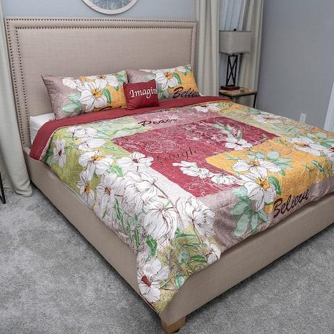 Home Decor Cozelle Hummingbird Comforter Bedding Set Polyester Queen