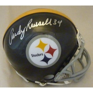 Andy Russell Autographed Pittsburgh Steelers mini Helmet name only JSA