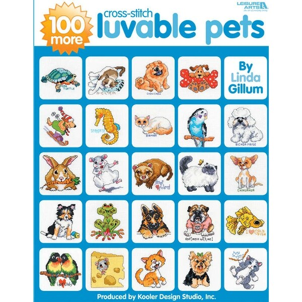 Leisure Arts-100 More Cross Stitch Luvable Pets
