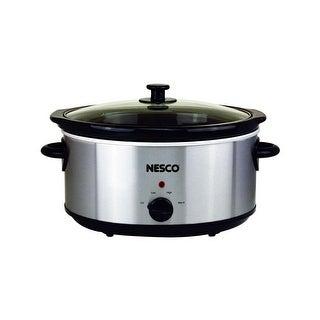 Nesco SC-6-25, 6 Quart Oval Analog Slow Cooker, Stainless Steel