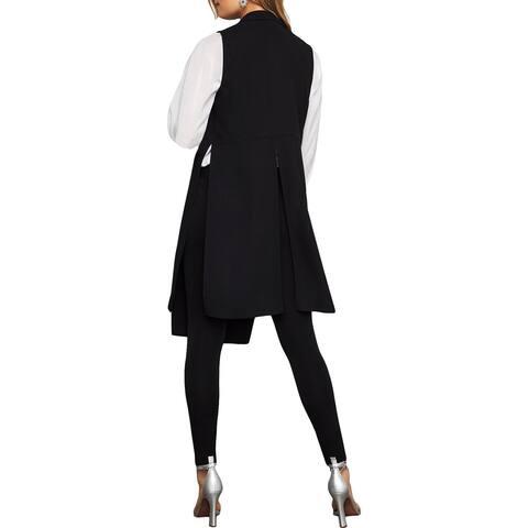 BCBG Max Azria Womens Tasha Vest Side Slit Sleeveless