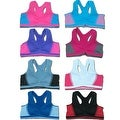 Women 6 Pack Seamless Contrast Color Matching Sports Bras - Thumbnail 0