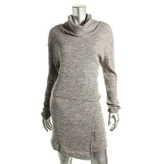 Free People Womens Marled Long Sleeves Sweaterdress