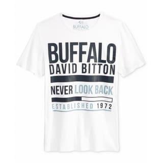 Buffalo David Bitton NEW White Never Look Back Mens 2XL Graphic Tee Shirt