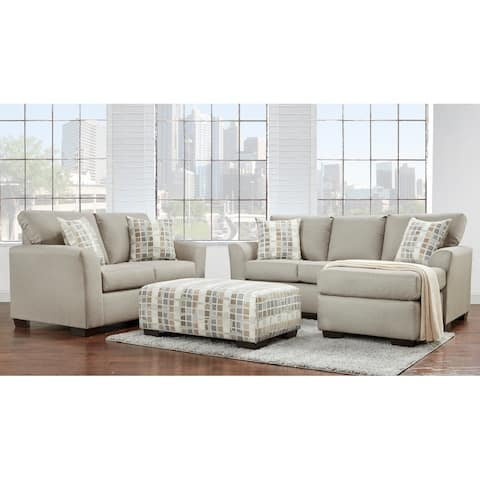 Addison Cream Oatmeal 3pc. Chofa, Loveseat, & Ottoman Set