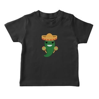 Mexican Jalapeno Maracas Emoji Girl's T-shirt (More options available)