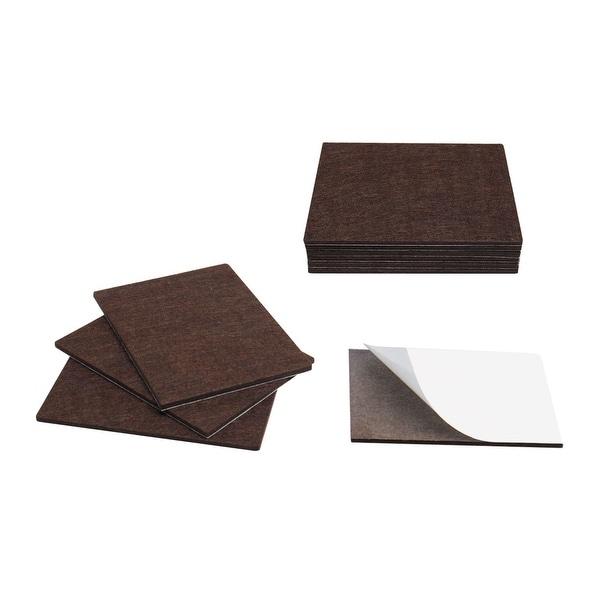 "10pcs Felt Pads Rectangle 5 7/8"" x 4 3/8"" Self Stick Furniture Pads Non Slip Reduce Noise Floor Protector Brown"