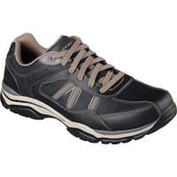 Skechers Men's Relaxed Fit Rovato Texon Sneaker Black/Taupe