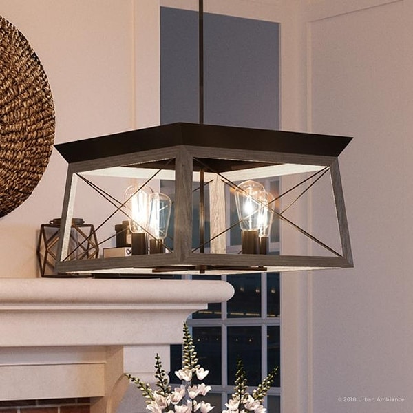 """Home Decor Styles Quiz: Shop Luxury Industrial Chic Chandelier, 12""""H X 20""""W, With"""