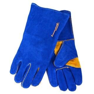 Forney 53422 Heavy Duty Men's Welding Gloves, Large, Blue