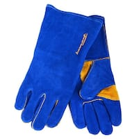 Forney 53422 Heavy Duty Men's Welding Gloves, Large, Blue