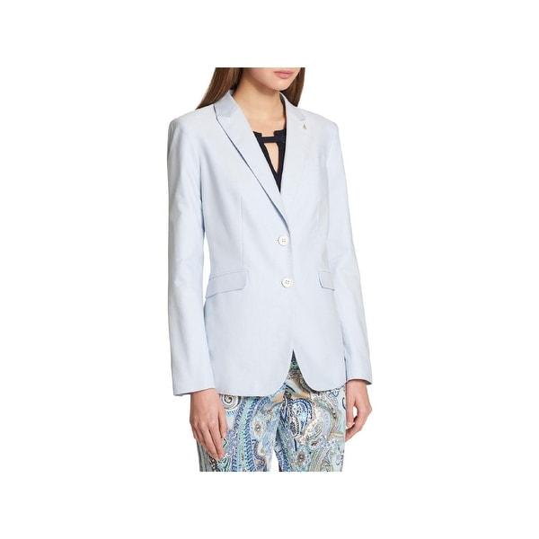97b3c431256 Tommy Hilfiger Womens Two-Button Blazer Office Wear Business Attire - 2