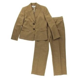 Le Suit Womens Tweed 2PC Pant Suit - 12
