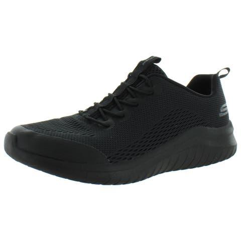 Skechers Mens Ultra Flex 2.0- Kelmer Athletic Shoes Mesh Trainers - Olive