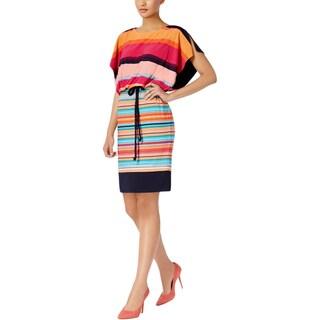 Sangria Womens Casual Dress Striped Blouson