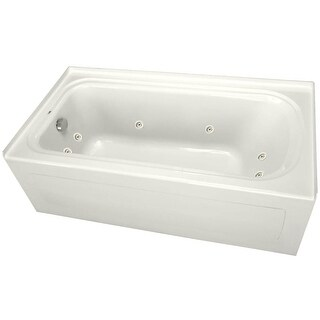 """ProFlo PFW6036ALSK 60"""" x 36"""" Alcove 8 Jet Whirlpool Bath Tub with Skirt, Left Hand Drain and Left Hand Pump (2 options available)"""