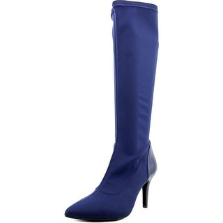 Charles By Charles David Vonda Women Pointed Toe Synthetic Blue Knee High Boot