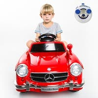 Costway RED MERCEDES BENZ 300SL AMG RC Electric Toy Kids Baby Ride on Car
