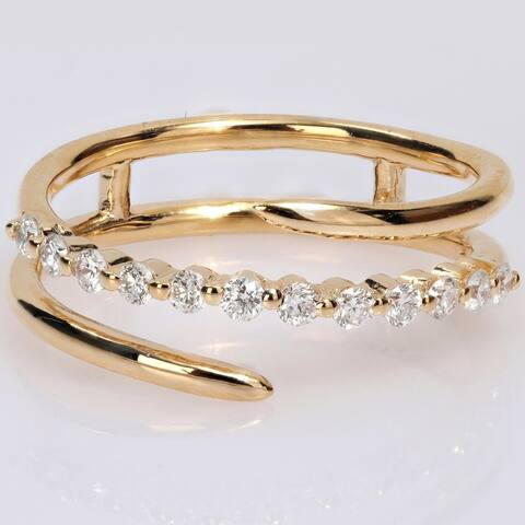 Eternally Yours 1/3ct TW Lab Created Diamond Multi-Row Band in 18k Yellow Gold Plated Sterling Silver