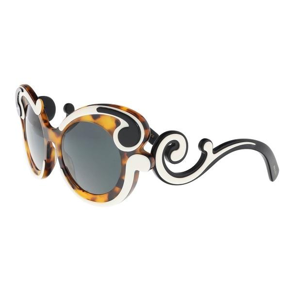 b129dfbece94 ... best price prada pr 23ns val1a1 ivory havana round baroque sunglasses  52 21 135 75390 124a5